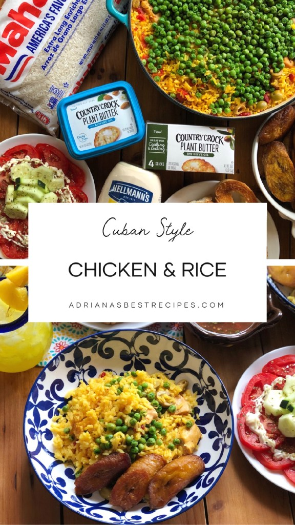 """This recipe is a one-pot meal for chicken and rice called in Spanish """"Arroz con Pollo."""" The ingredients include long-grain rice, white chicken meat, olive oil, butter, peas, saffron, olives, chicken stock, and Latino condiments. All ingredients found at Sedano's Supermarkets."""