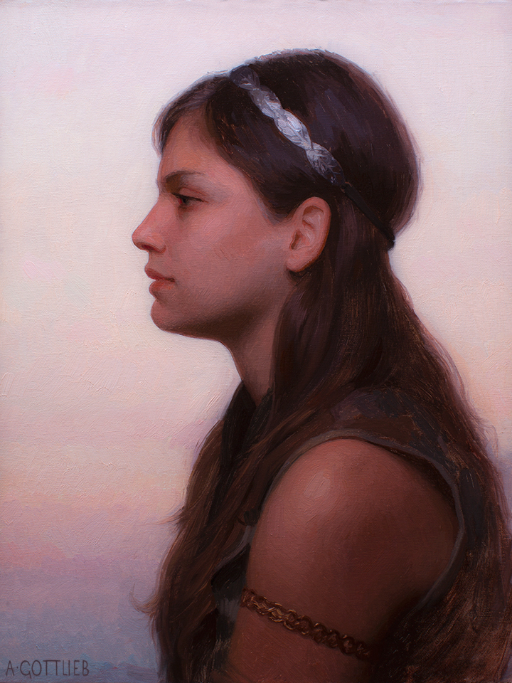 14 x 18 inches, oil on panel by Adrian Gottlieb