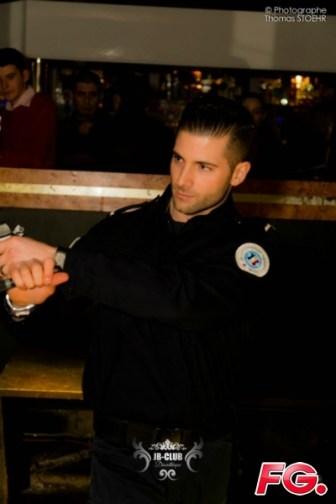 show police striptease