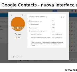 Gestione rubrica contatti con Google Contacts