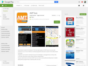 Amt Genova applicazione Android orari fermate bus