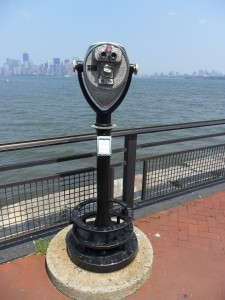 Binoculars at Liberty Island, New York, NY
