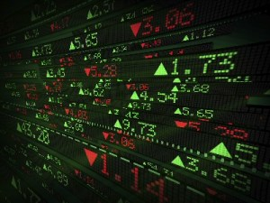 Data -- Picture of stock exchange tickers
