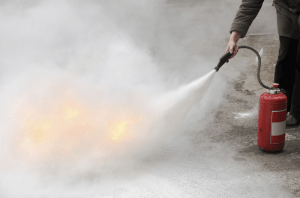 Fire Fighting (putting out a small fire with an extinguisher)