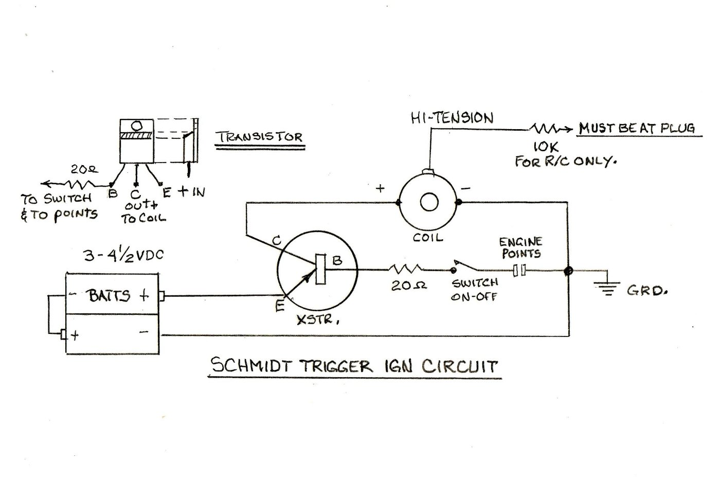 hight resolution of the accompanying schematic drawing at the right shows the circuit clearly bill advises that a 90 watt sk3189 pnp transistor works very well indeed