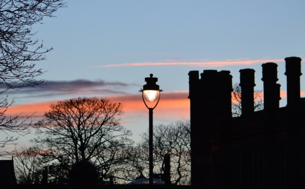 Lamp by St Andrews Museum.