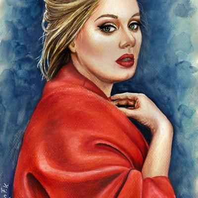 Adele ///Farbstift