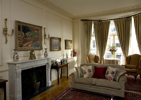 A completed interior design project in traditional style