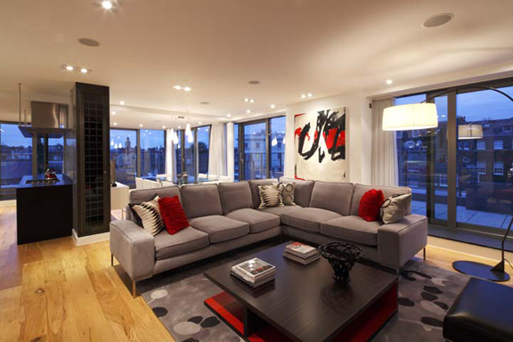 black kitchen rugs schrock cabinets a completed interior design project in an urban chic penthouse