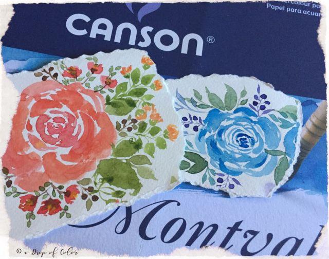 Canson Montval carta per acquerello 300 gr cellulosa
