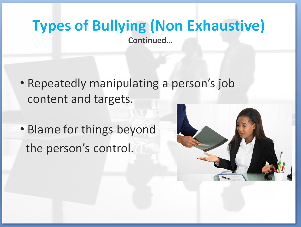 Bullying and Harassment Awareness Training Course | Types of Bullying