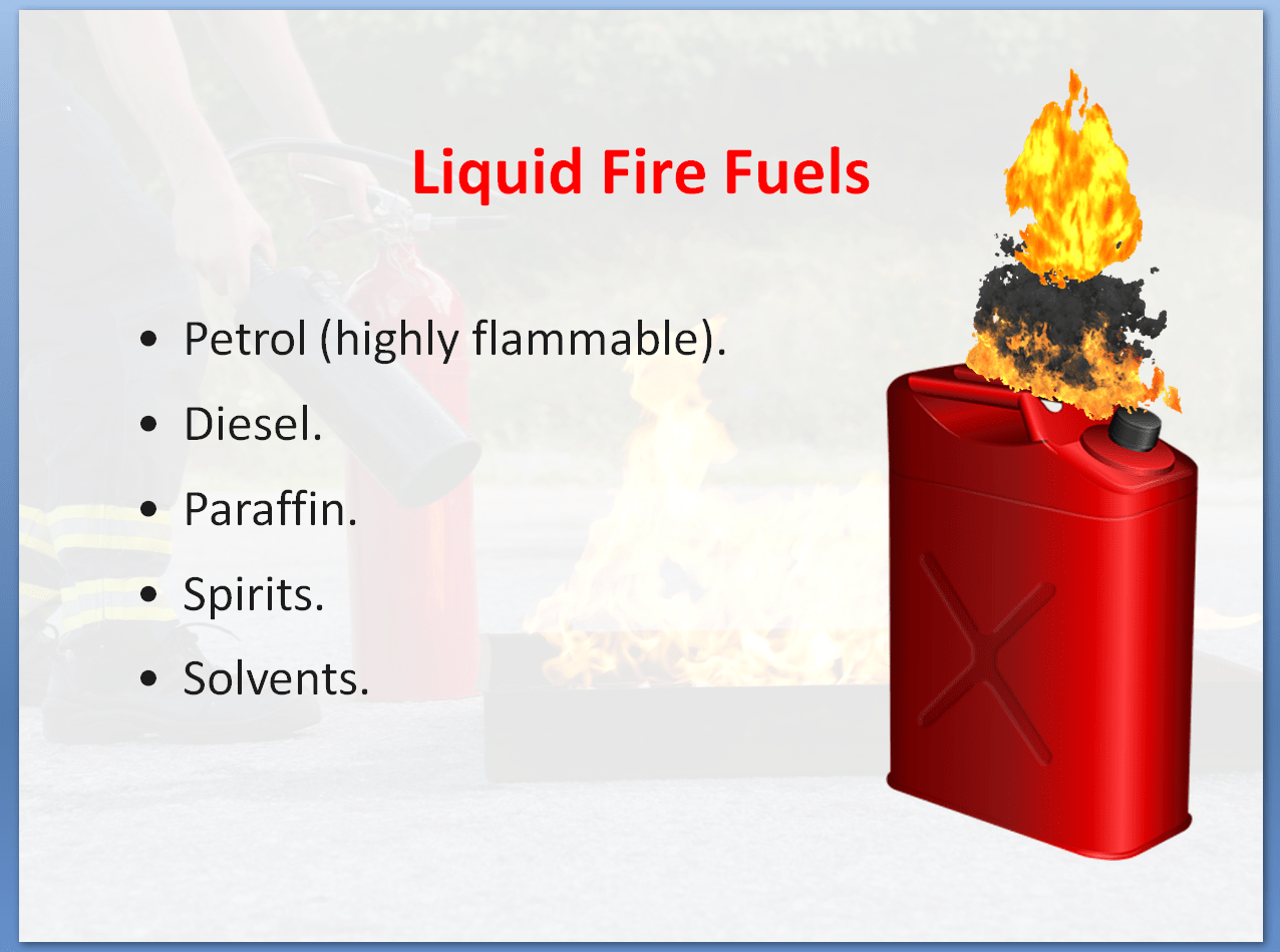 Fire Safety Awareness Training Course | Liquid Fire Fuels