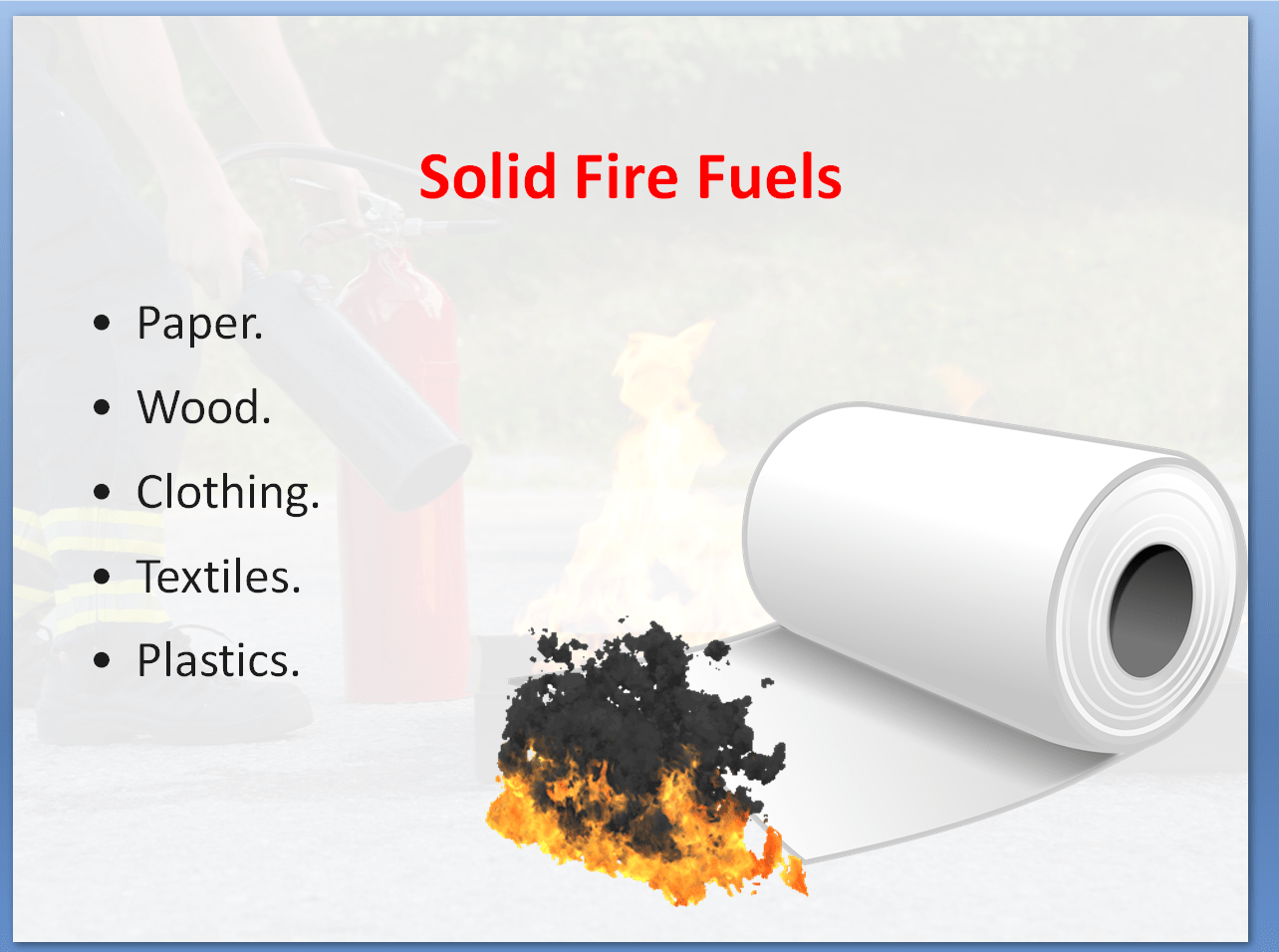 Fire Safety Awareness Training Course | Solid Fire Fuels