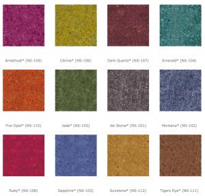 Nanoset Dyes Colour charts