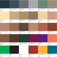 This colour range covers a number of products