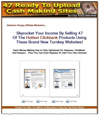 47 ready to upload cash making sites