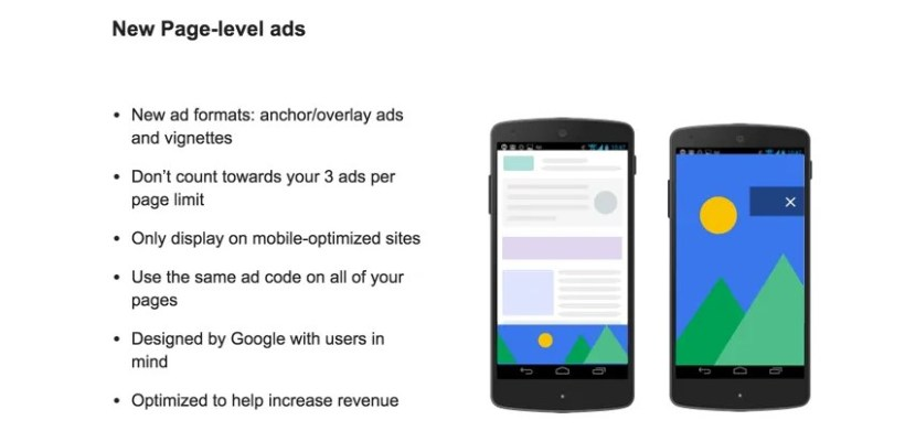 new page level ads