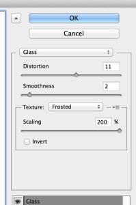 Glass filter settings