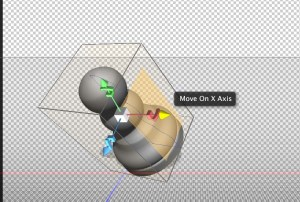 Photoshop 3D Move widgets