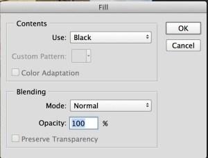 Photoshop's fill option