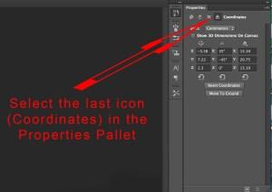 Photoshop 3D Properties Pallet Coordinates