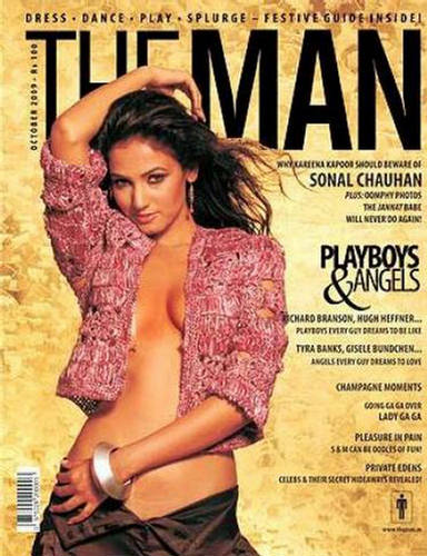Sonal Chauhan in Man Magazine