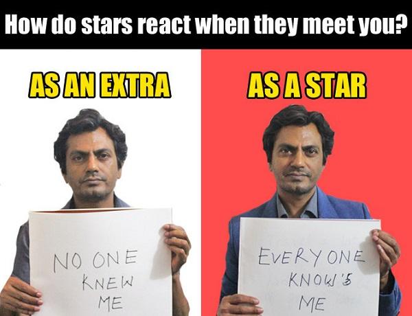 how star react to nawaz