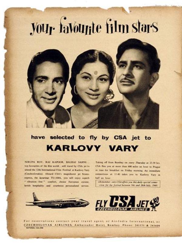 raj kapoor in vintage ad