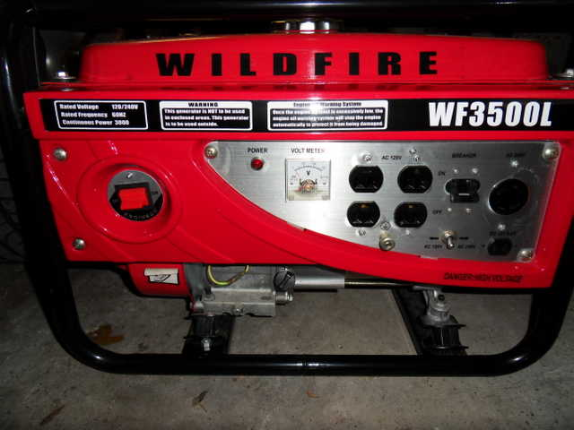 Ac Amp Gauge Wiring Wildfire Wf3500l Generator Never Used Moving Sale