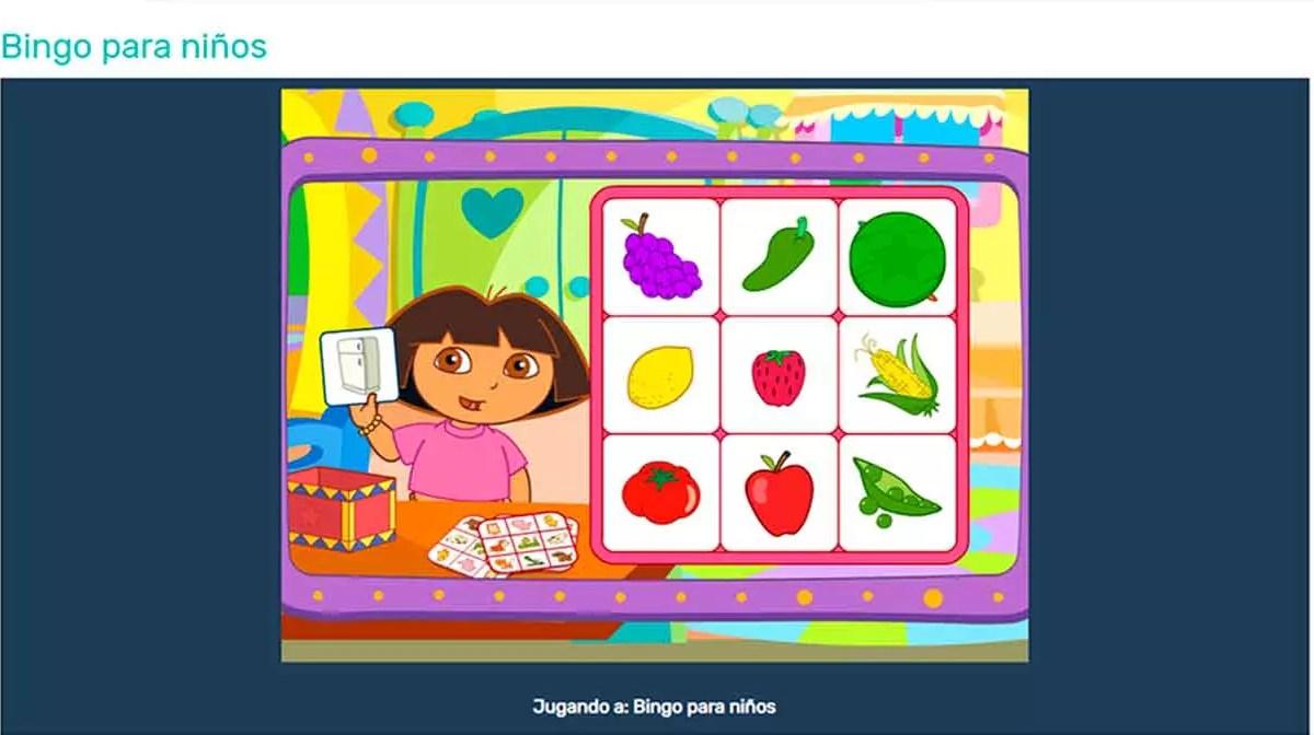 Bingo online para niños
