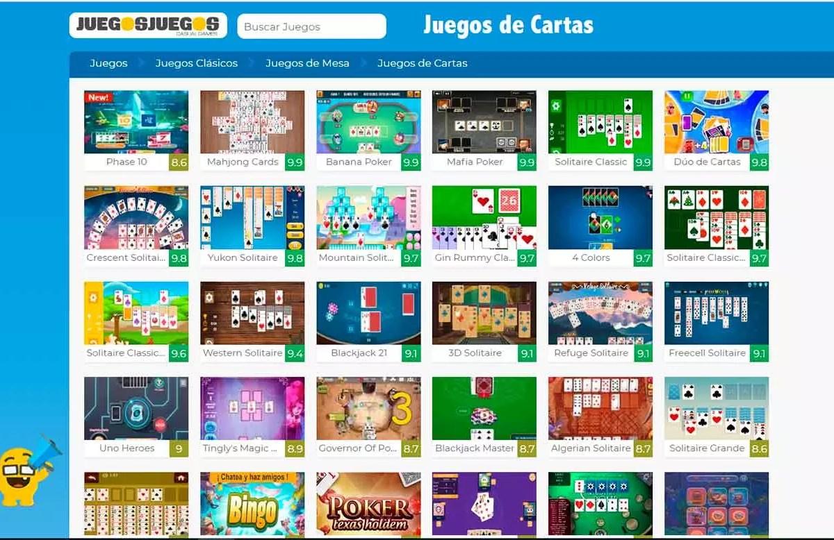 Juegosjuegos - Webs de cartas
