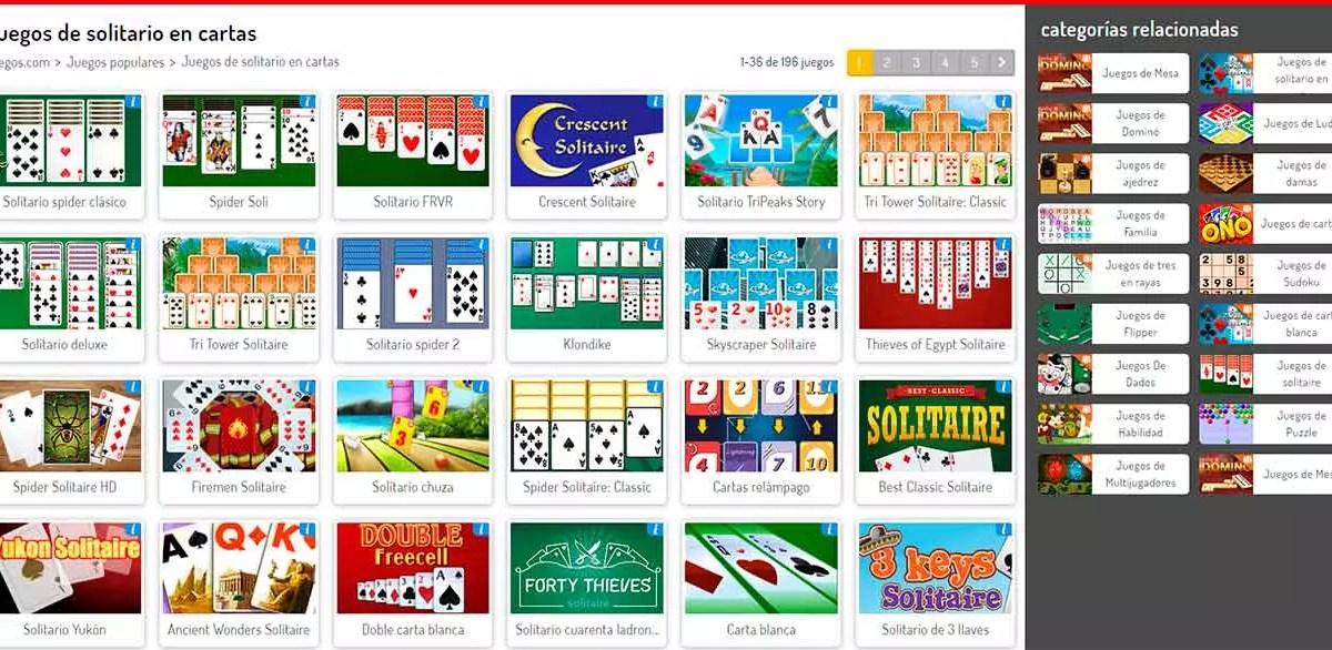 Webs de cartas en Juegos.com