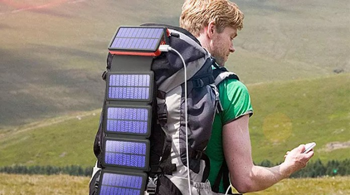 A battery with solar charge