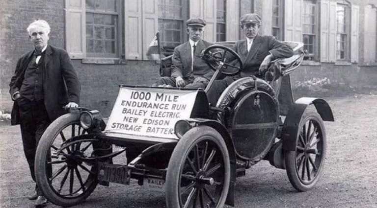 Baterías recargables historia coche eléctrico
