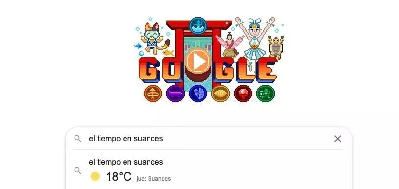 sugerencias del tiempo de google