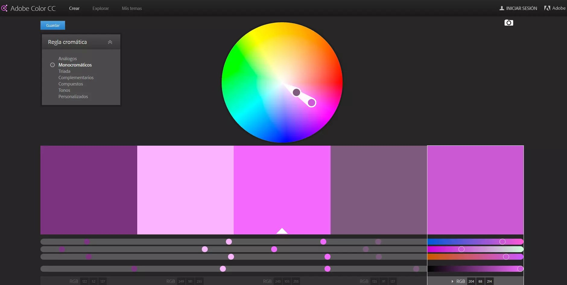 Herramientas online para combinar colores y crear paletas