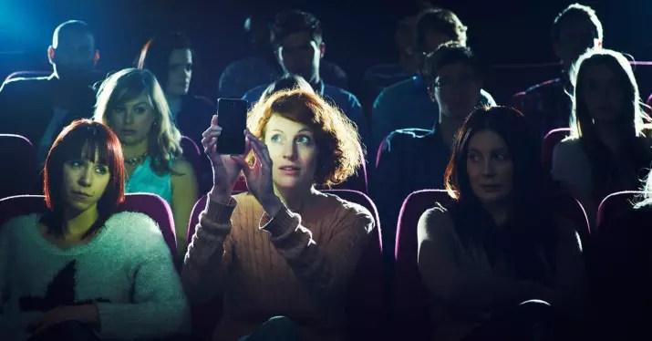 uso del movil en el cine