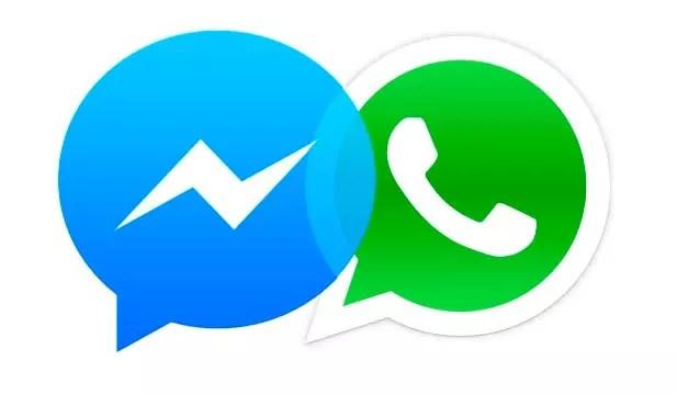 whatsapp y facebook messenger