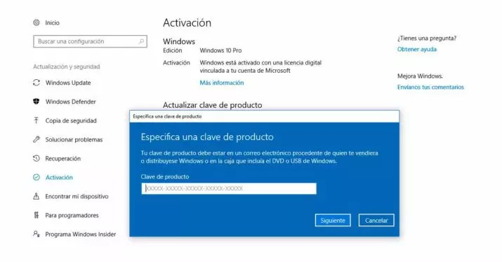 clave Windows 10 Creators Update