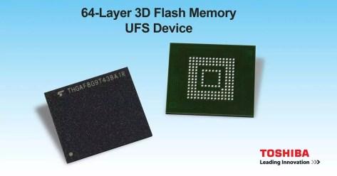 toshiba memoria 3d nand flash móviles