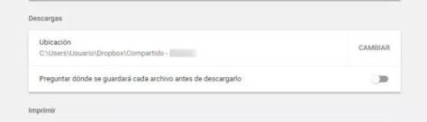 descargas desde Google Chrome