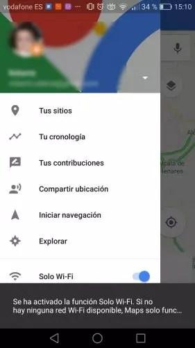 ahorra datos en Google Maps