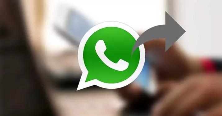 whatsapp reenviar mensajes