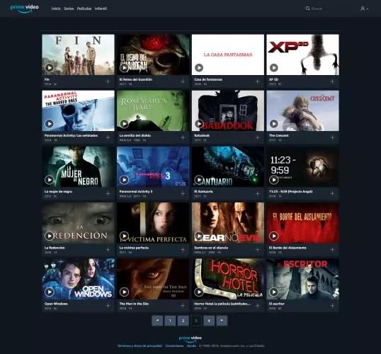 películas de miedo en Amazon Prime