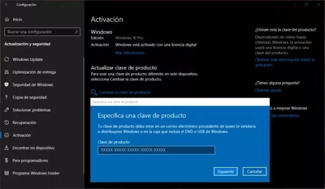 windows 10 cambiar clave