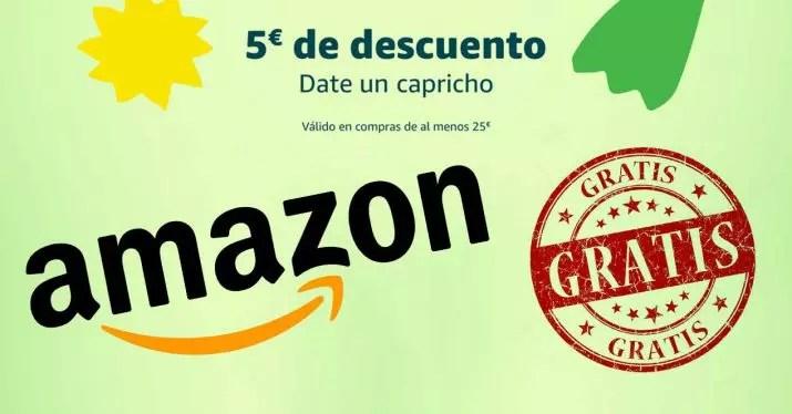 amazon 5 euros descuento gratis