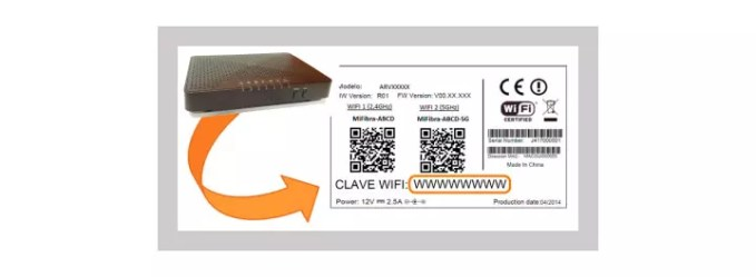 Password to access the Jazztel router