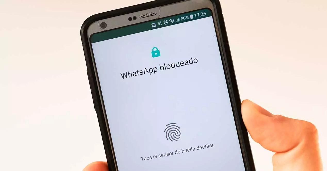 whatsapp bloqueo huella dactilar