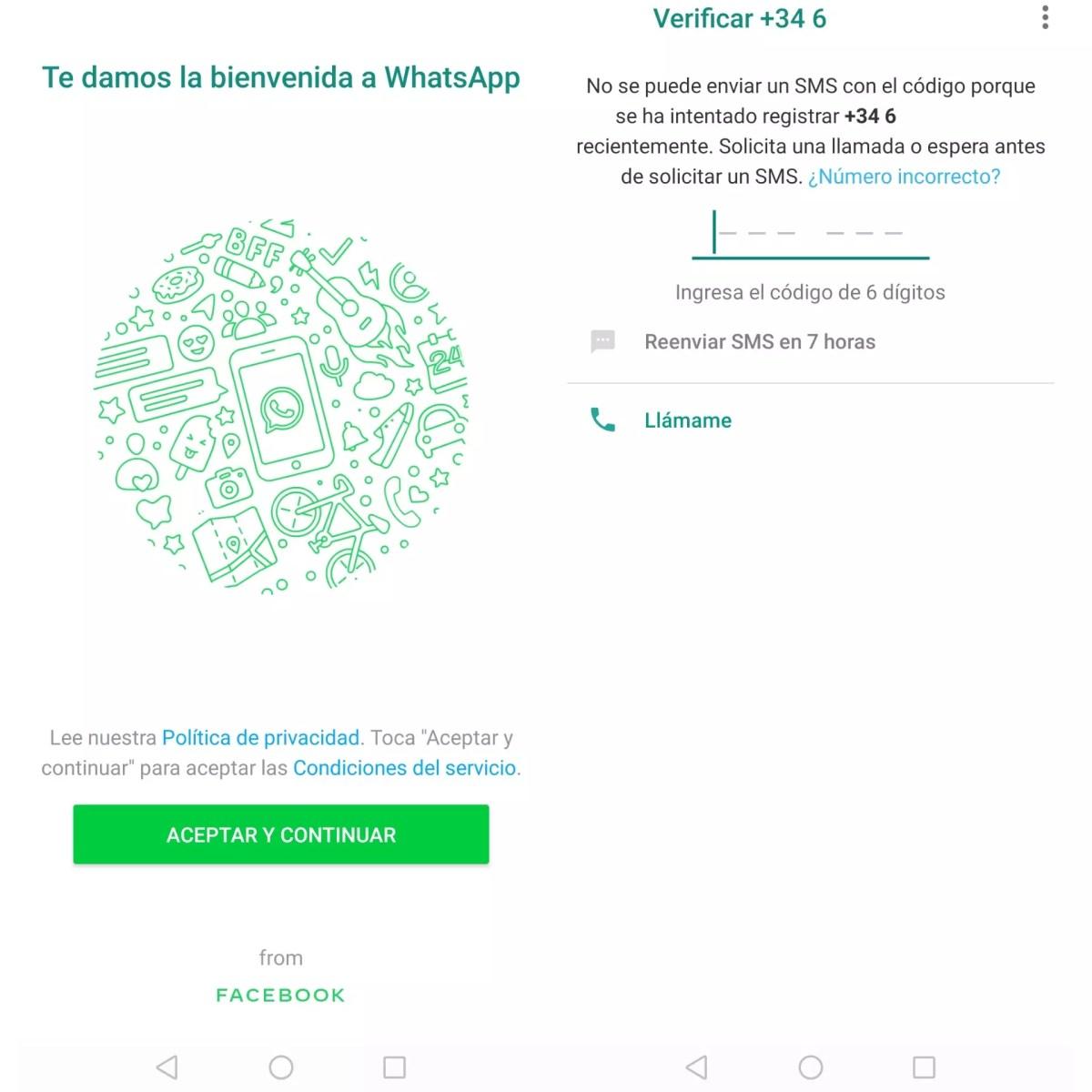 WhatsApp sin código de verificación