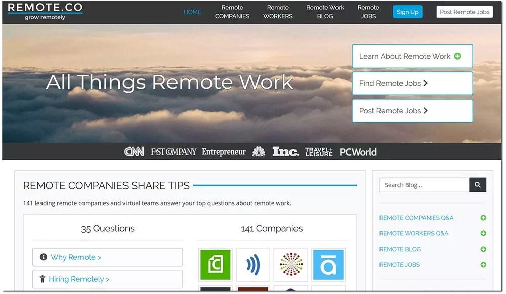 web freelance remote.co